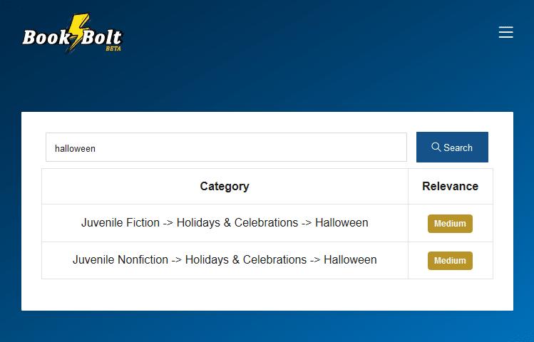 halloween category